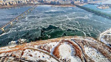 Photo of दक्षिण कोरियामा चिसोको रेकर्ड, नदी नै जम्यो