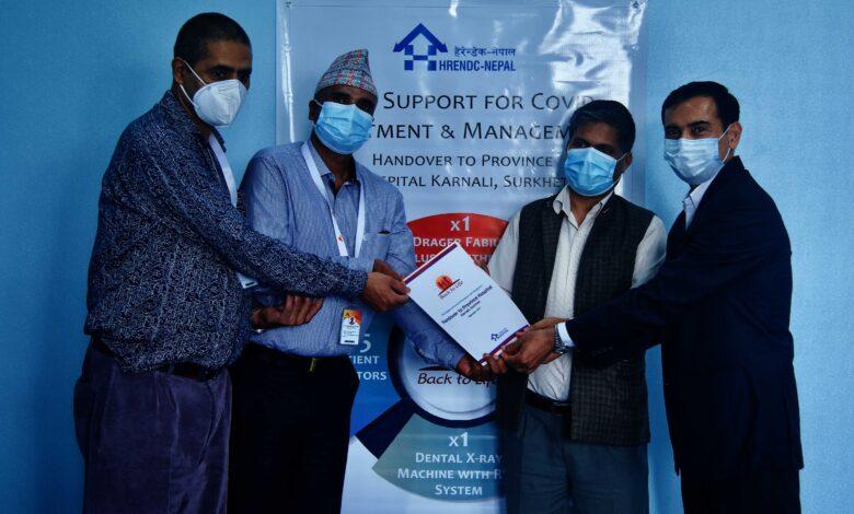 Photo of कर्णाली प्रदेश अस्पताललाई 'ब्याक टु लाइफ' ले दियो १ करोड बराबरका स्वास्थ्य सामग्री